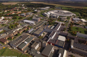 Aerial view of Harwell Campus