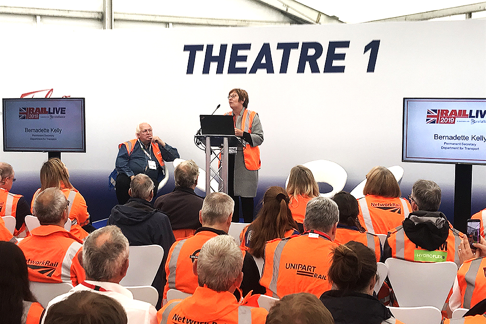 Bernadette Kelly at Rail Live