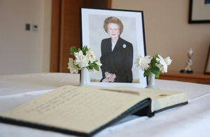 The book of condolence at the Ambassador's residence