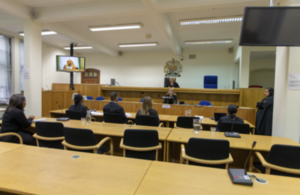 Photograph of empty courtroom