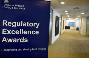 Regulatory Excellence Awards banner with strapline Recognising and sharing best practice