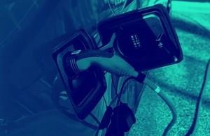 Plug charging an electric car
