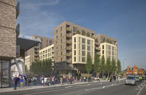 CGI Image of housing