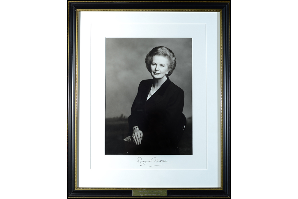 Terence Donovan's portrait of Baroness Thatcher
