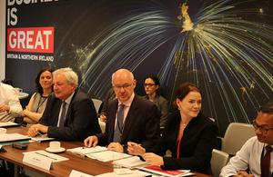 Sir Stephen at the DIT Board meeting