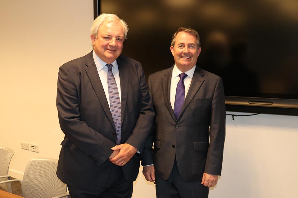 Sir Stephen O'Brien and Dr Liam Fox MP