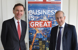Lord Green, Minister of State for Trade and Investment, and Sir Peter Ricketts, British Ambassador to France