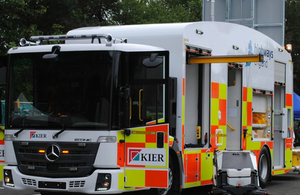 Image showing the new ECRU incident response vehicle