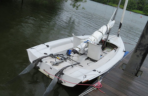 Photograph of the sailing boat