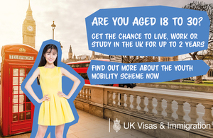 UK Youth Mobility Scheme 2019 for Hong Kong SAR passport holders
