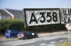 A358 signpost