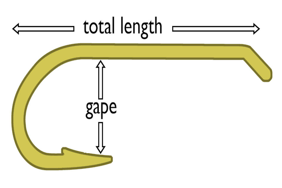 Image showing how to measure the hook gape