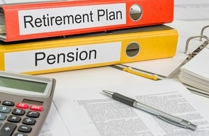 Two folders about retirement pensions