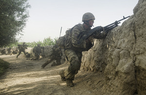 British Riflemen come under heavy fire during an operation in Helmand province (library image) [Picture: Sergeant Alison Baskerville, Crown copyright]