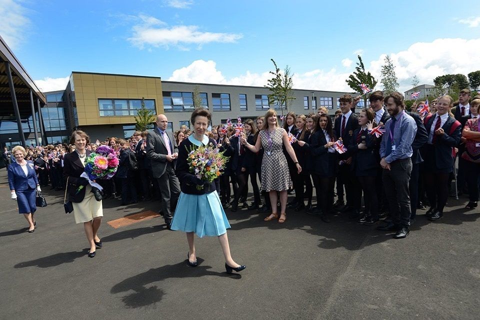 HRH Princess Anne on an official visit to Campus Whitehaven