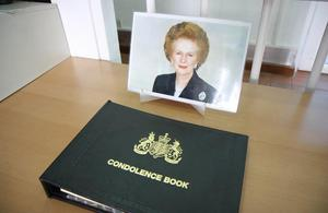 British High Commission in Kigali opens book of condolence for Lady Thatcher