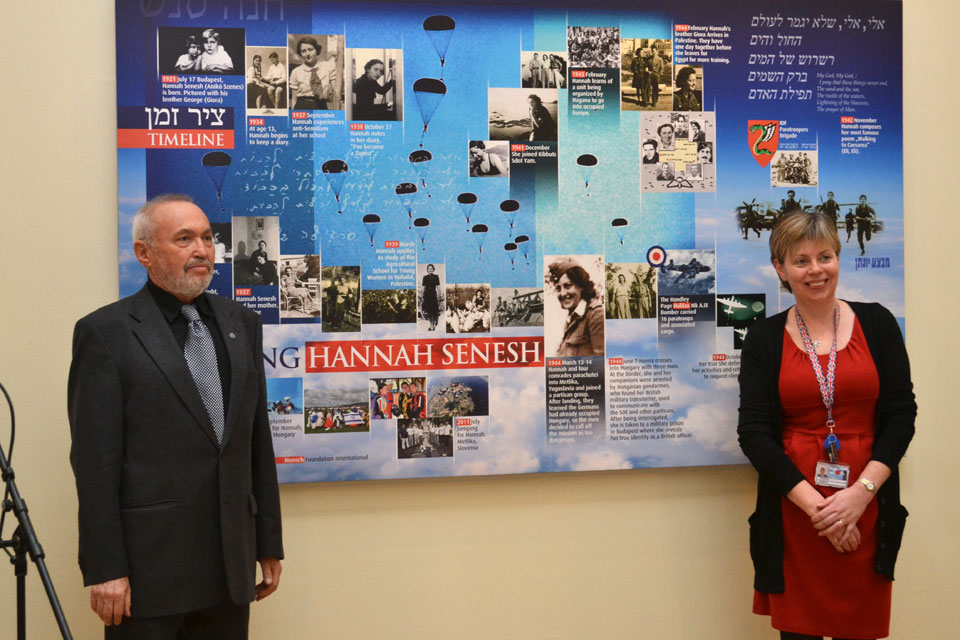Memorial picture of a Jewish martyr unveiled at the British Embassy Budapest
