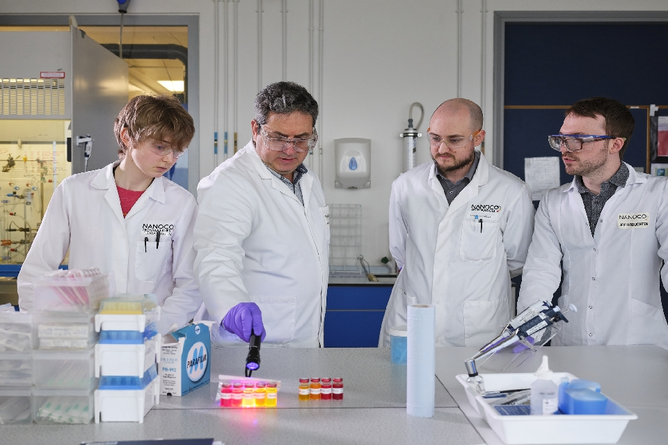 The Nanoco Technologies team look at their quantum dot material