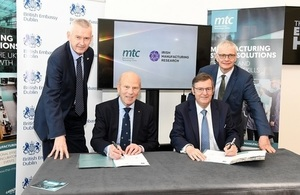 Signing of agreement between MTC and IMR