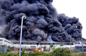 One of the major fires at the site