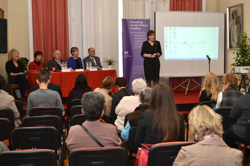 Deputy Head of Mission opens Preventing Sexual Violence Initiative exhibition tour in Budapest