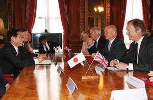 Foreign Secretary William Hague and Foreign Minister Fumio Kishida