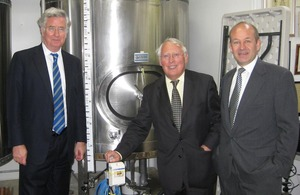 Bob Neill at Westerham Brewery