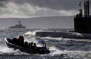 Norwegian submarine Ula and American destroyer USS Nitze taking part in a previous Exercise Joint Warrior (library image) [Picture: Leading Airman (Photographer) AJ MacLeod, Crown copyright]