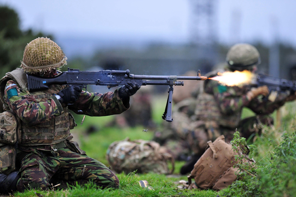 Troops from 3rd Battalion The Parachute Regiment