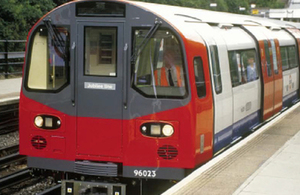 Image of Jubilee line train (not train involved in incident)