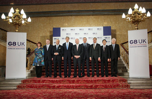The G8 Foreign Ministers