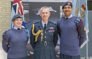 Air Chief Marshal Stephen Hillier, Chief of the Air Staff, pictured with air cadets