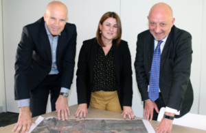 James Ryley Principal Estate Surveyor from the Defence Infrastructure Organisation, Marie Kiddell, Head of Public Sector Land at Homes England and Trevor Watson, Harrogate Borough Council's Director for Economy and Culture.