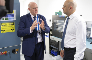 Head of Digital, Cyber & Communications Forensics Unit, Metropolitan Police Mark Stokes meets Home Secretary Sajid Javid