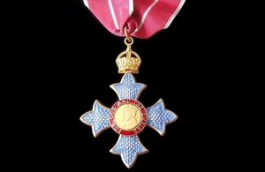 CBE with military ribbon