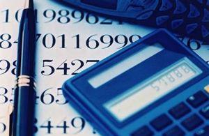 Calculator, pen & numbers