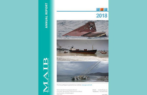 Front cover of MAIB Annual Report 2018