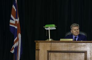 Governor Dakin delivering his inaugural speech