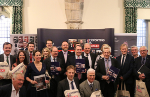 Liam Fox with MPs at the launch of the MPs Toolkit