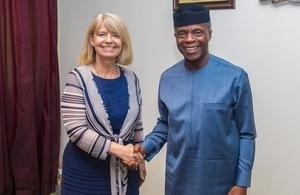 Minister Baldwin with Nigerian Vice President Yemi Osinbajo