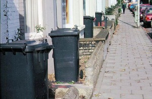 Row of bins