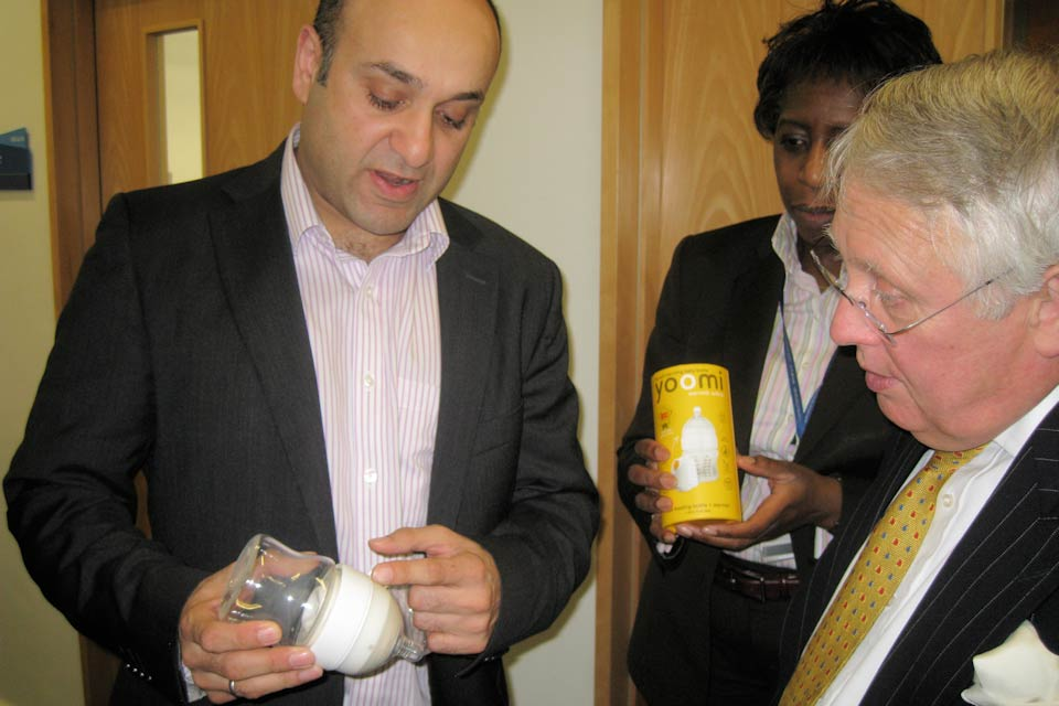 Bob Neill examines a self-heating baby bottle