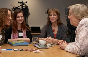 Baroness Hanham meeting women entrepreneurs