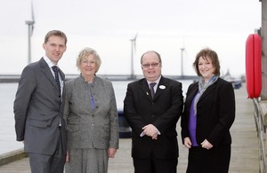 Baroness Hanham at a wind farm