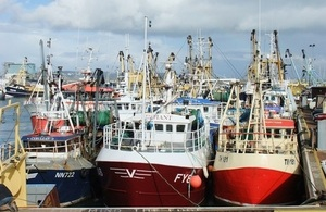 Fishing boats in Brixham harbour.
