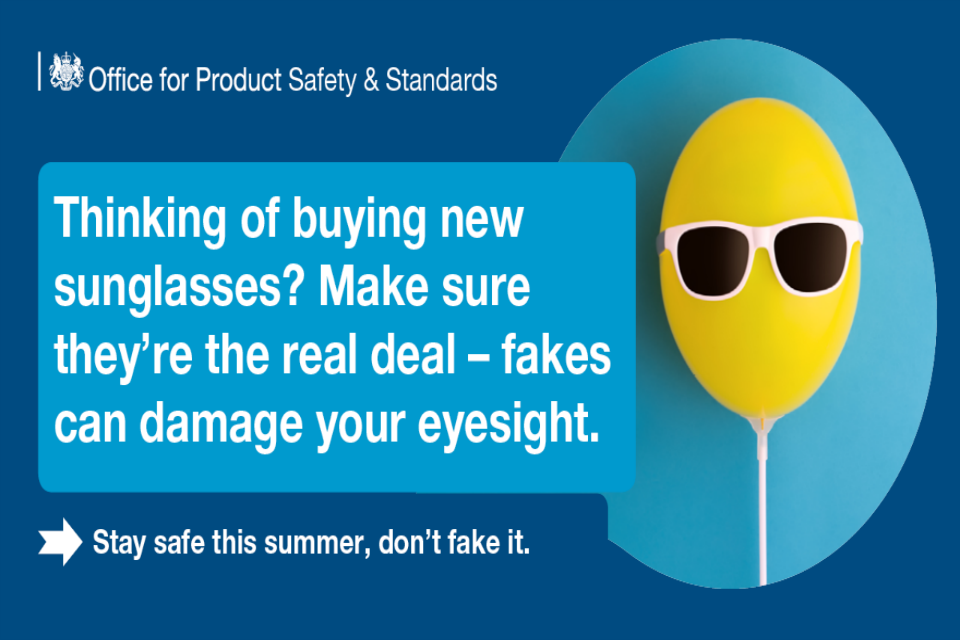 Summer safety image with text