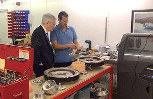 Rail minister Andrew Jones at Steamology.
