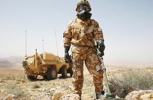 Metal detector and gas mask image