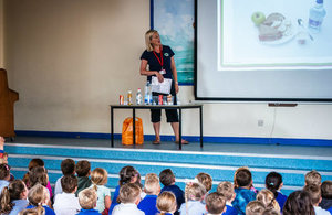 The Phunky Foods Programme being presented to local school children