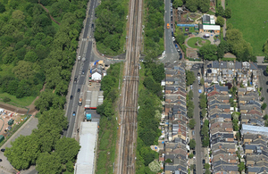 Location at which the train became stranded (image courtesy of Network Rail)